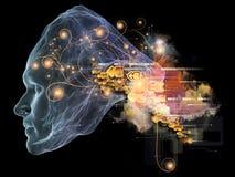 Будущее интеллекта Стоковые Изображения
