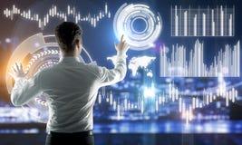 Будущее и концепция финансов стоковая фотография rf