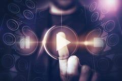 Будущее концепции музыки Стоковая Фотография RF