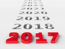 будущее 2017 иллюстрация вектора