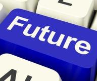 Будущие ключевые показывая прогнозирование или пророчество прогноза стоковая фотография rf