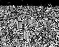 Будущий город Стоковые Фотографии RF