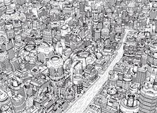 Будущий город Стоковое Изображение