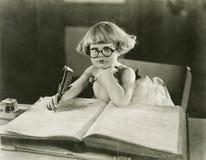 Будущий писатель Стоковая Фотография
