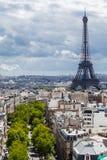 2 бульвара и Эйфелева башня Париж Стоковое Изображение