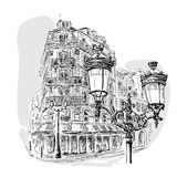 Бульвар в Париже бесплатная иллюстрация