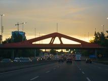 Бульвар генерала Paz в столице Буэноса-Айрес Стоковые Фотографии RF