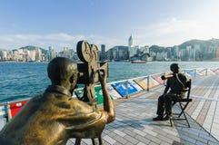Бульвар Гонконга звезд Стоковые Фото