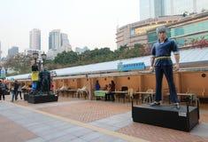 Бульвар Гонконга шуточных звезд Стоковое фото RF