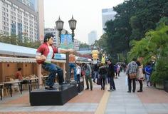 Бульвар Гонконга шуточных звезд Стоковые Фотографии RF
