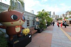 Бульвар Гонконга шуточных звезд Стоковые Изображения