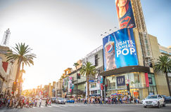 Бульвар Голливуда, Лос-Анджелес Стоковые Изображения RF