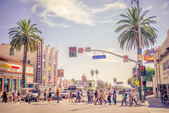 Бульвар Голливуда, Лос-Анджелес Стоковое фото RF