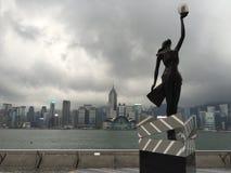 Бульвар звезды Виктории Habor, Гонконга Стоковое Изображение RF
