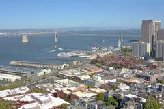 Бульвар и пристани Сан-Франциско Embarcadero Стоковое Изображение