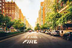 Бульвар парка в верхнем Ист-Сайд, Манхаттане, Нью-Йорке Стоковое Изображение RF