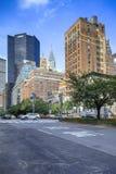 Бульвар парка в зареве после полудня, NYC Стоковая Фотография RF