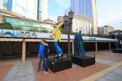 Бульвар парка Kowloon шуточных звезд в Гонконге Стоковые Фотографии RF