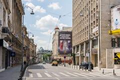 Бульвар победы в Бухаресте Стоковое Изображение