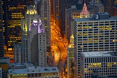 Бульвар Чикаго Мичигана Стоковые Изображения