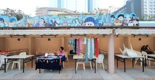 Бульвар шуточных звезд в Гонконге Стоковое Изображение