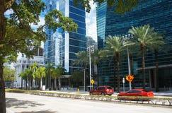 Бульвар Brickell Майами городской стоковые изображения