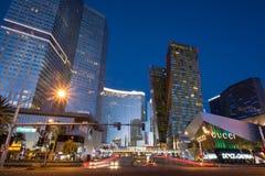 Бульвар CenterLas Вегас города стоковые фото