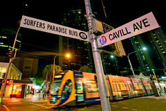 Бульвар Gold Coast Австралия рая серферов Стоковые Фото