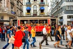 Бульвар Istiktal в Стамбуле Стоковые Изображения RF