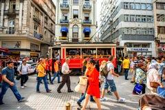 Бульвар Istiktal в Стамбуле Стоковая Фотография RF