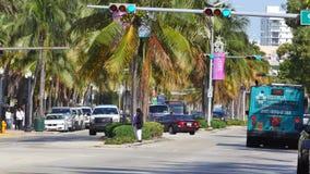 Бульвар Miami Beach Вашингтона сток-видео