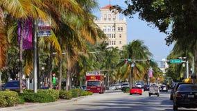 Бульвар Miami Beach Вашингтона акции видеоматериалы