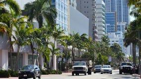 Бульвар Miami Beach Collins сток-видео