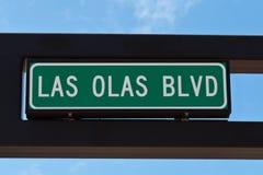 Бульвар Olas Las подписывает внутри Fort Lauderdale, Флориду. Стоковые Фото