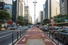 Бульвар Paulista стоковое фото rf