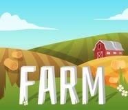 будьте фермером ландшафт иллюстрация вектора