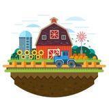 будьте фермером ландшафт Стоковое Фото