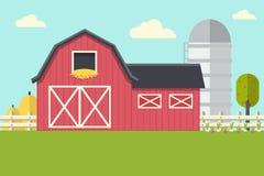 будьте фермером ландшафт Стоковое Изображение