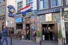 Бульдог Coffeeshop в Амстердаме, Нидерландах стоковая фотография