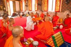 Буддийское посвящение Стоковые Изображения