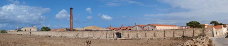 Бывшая тунец-фабрика, Favignana, Сицилия, Италия стоковые фотографии rf