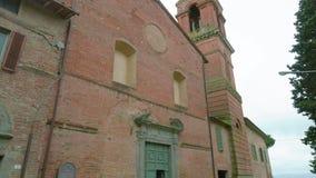 Бывшая церковь повернутая в музей в Città Della Pieve, Перудже видеоматериал