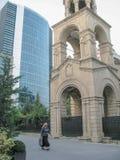 Бывшая церковь St Gregory иллюминатор в Баку стоковое изображение