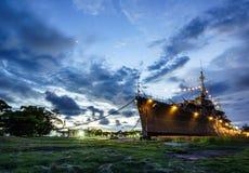Бывшие военные корабли показанные на музее Стоковые Фотографии RF