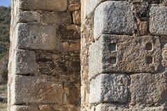 Бывший алтар камня Ataecina повторно использованный как ashlar стоковые изображения
