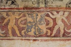 Бывший доминиканский монастырь Сан-Хуана Bautista VIII стоковое фото rf