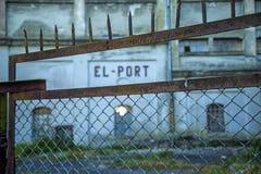 Бывший немецкий склад порта Стоковая Фотография