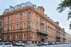 Бывший дом торгового Utin в Санкт-Петербурге, России стоковое изображение