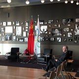 Бывший президент Jacques Rogge Международного олимпийского комитета Стоковое фото RF