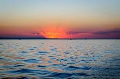 Былинный sundowner на constance озера стоковые фото